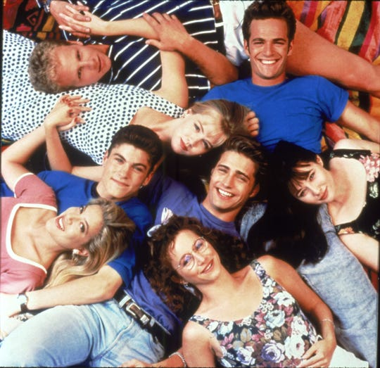 Most of the original cast members of 'Beverly Hills, 90210,' seen here early in the Fox hit's run, are reuniting to play heightened versions of themselves in '90210,' a summer event series on Fox.