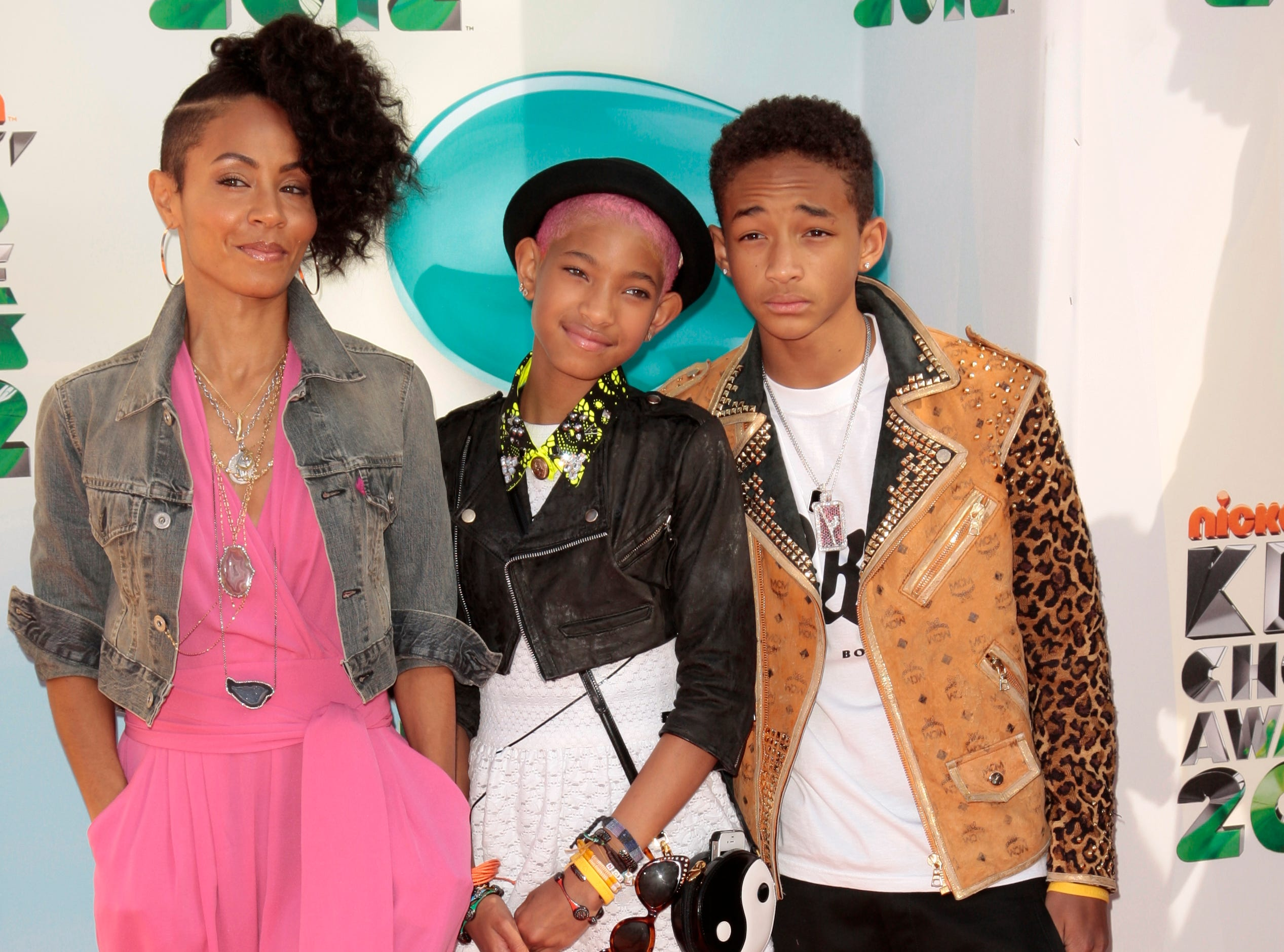Jada Pinkett Smith, Willow Smith and Jaden Smith