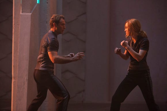 """Brie Larson shows off some fighting skills opposite Jude Law. """"I never had to throw a punch before this (film),"""" she says. """"That has felt really good."""""""
