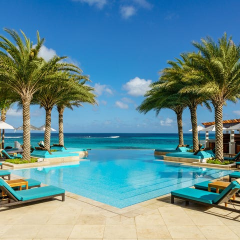 A five-star on Anguilla's Shoal Bay East Beach,...