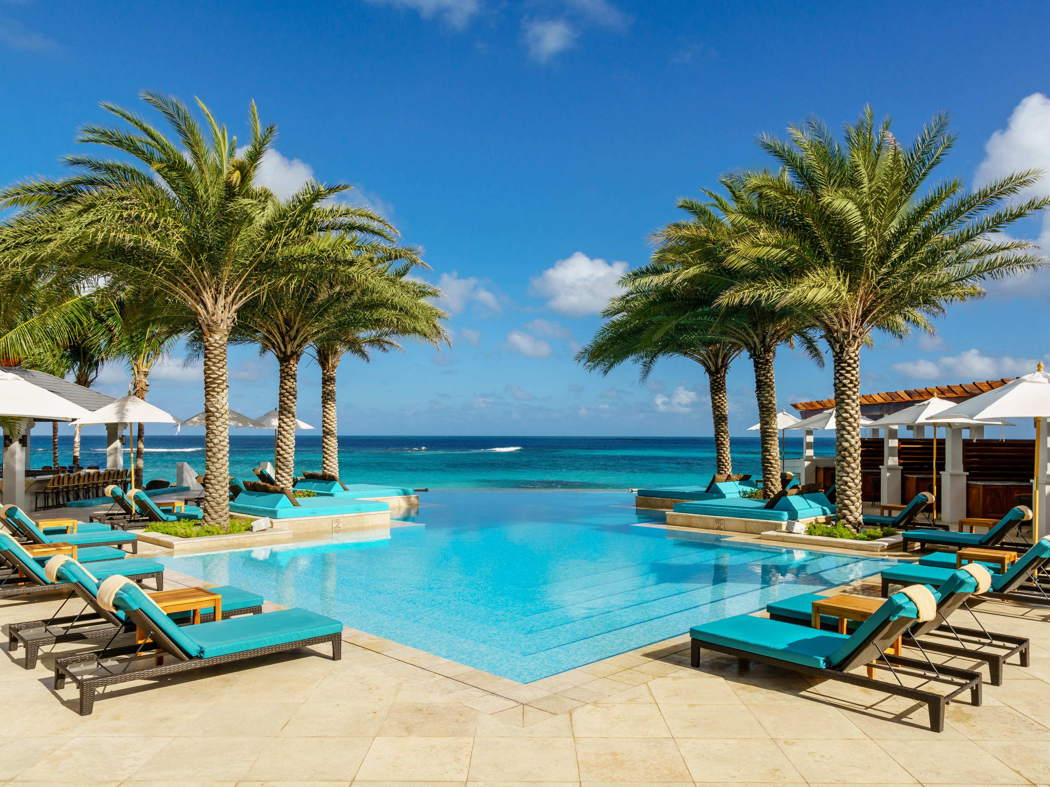 A five-star on Anguilla's Shoal Bay East Beach, Zemi Beach House Hotel & Spa sports a quartet of plush pools.