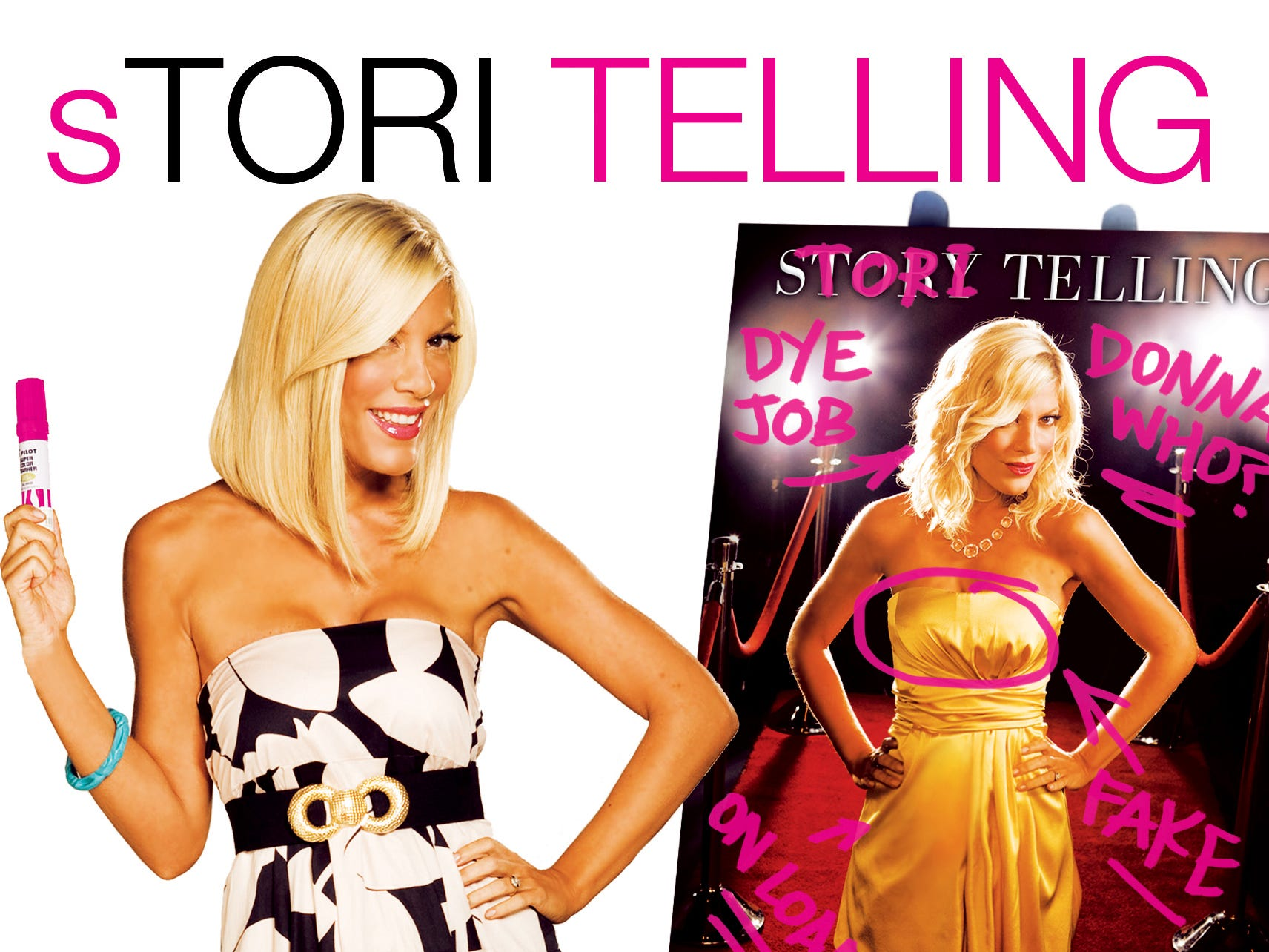 """In 2008, she published a memoir, """"Stori Telling,"""" in which she recounts her difficult relation with her parents and her love life – and yes, her nose job."""