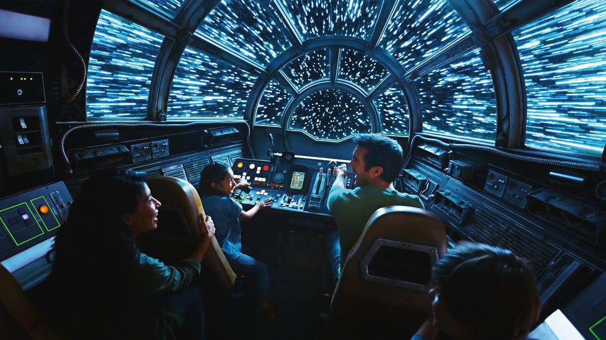 Inside Millennium Falcon: Smugglers Run, guests will take the controls aboard the fastest ship in the galaxy.