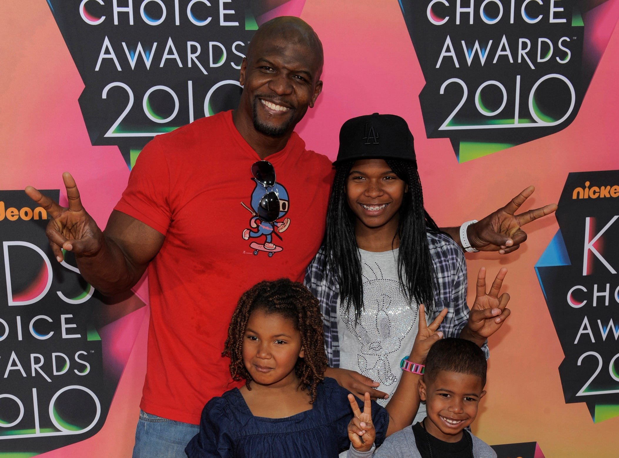 Terry Crews and his family