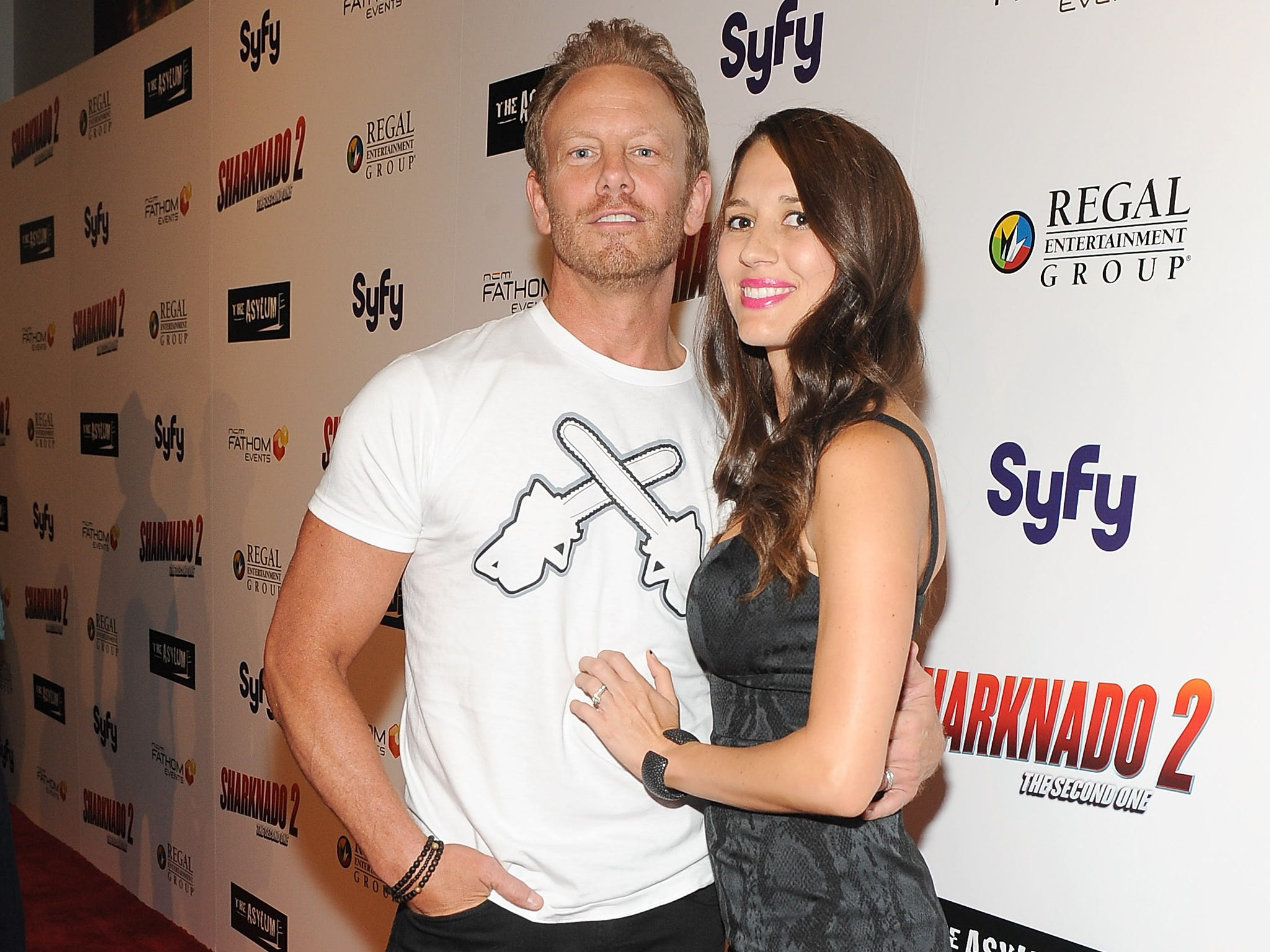 Ziering has been married twice: first to Nikki Schieler from 1997 to 2002 and then to Erin Kristine Ludwig (seen here) since 2010.