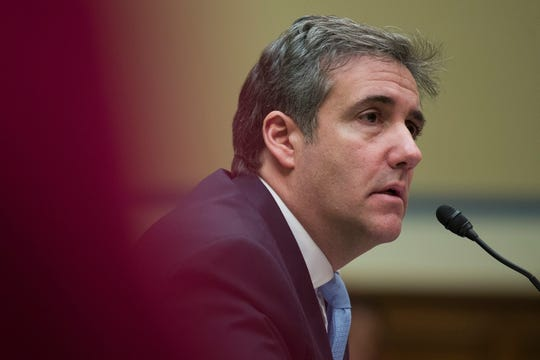 Michael Cohen testifies Feb. 27, 2019.