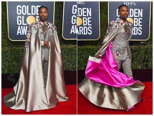 Billy Porter arriving at the 76th annual Golden Globe Awards on Jan. 6, 2019.
