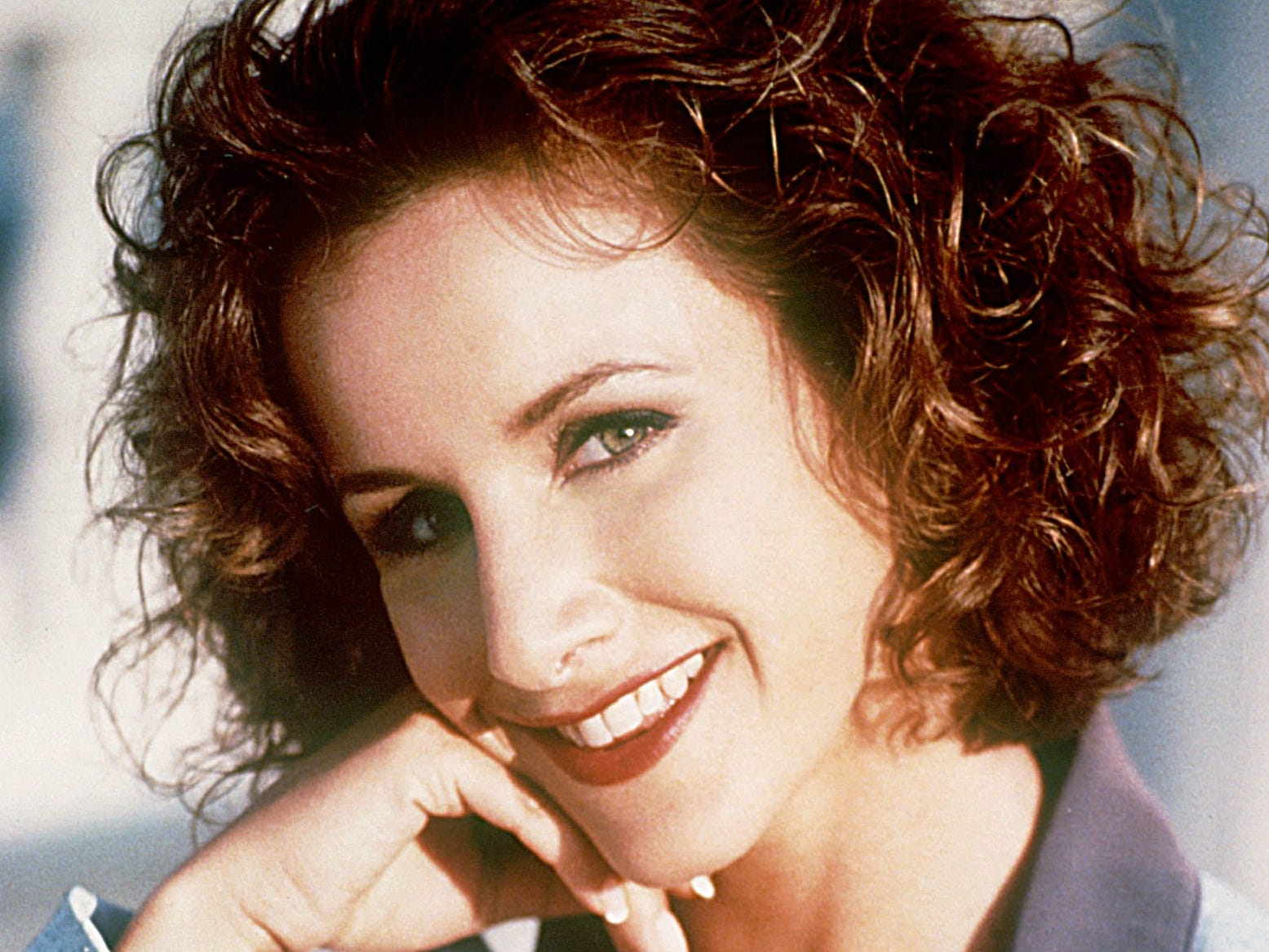 Gabrielle Carteris was 29 when she debuted as Andrea Zuckerman, the editor of the West Beverly High School newspaper and valedictorian. Accepted at Yale, she declined and attended the fictional California University with her friends. Andrea fell in love with and married her old resident advisor. They had a daughter together and moved to Connecticut, where she finally did attend Yale. Carteris later returned as a guest star in later years, including a Season 10 episode where she returned for Donna's bachelorette party and revealed she was about to be divorced.