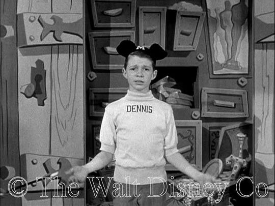 Dennis Day as the original member of the Disney Mickey Mouse Club in the mid-1950s.