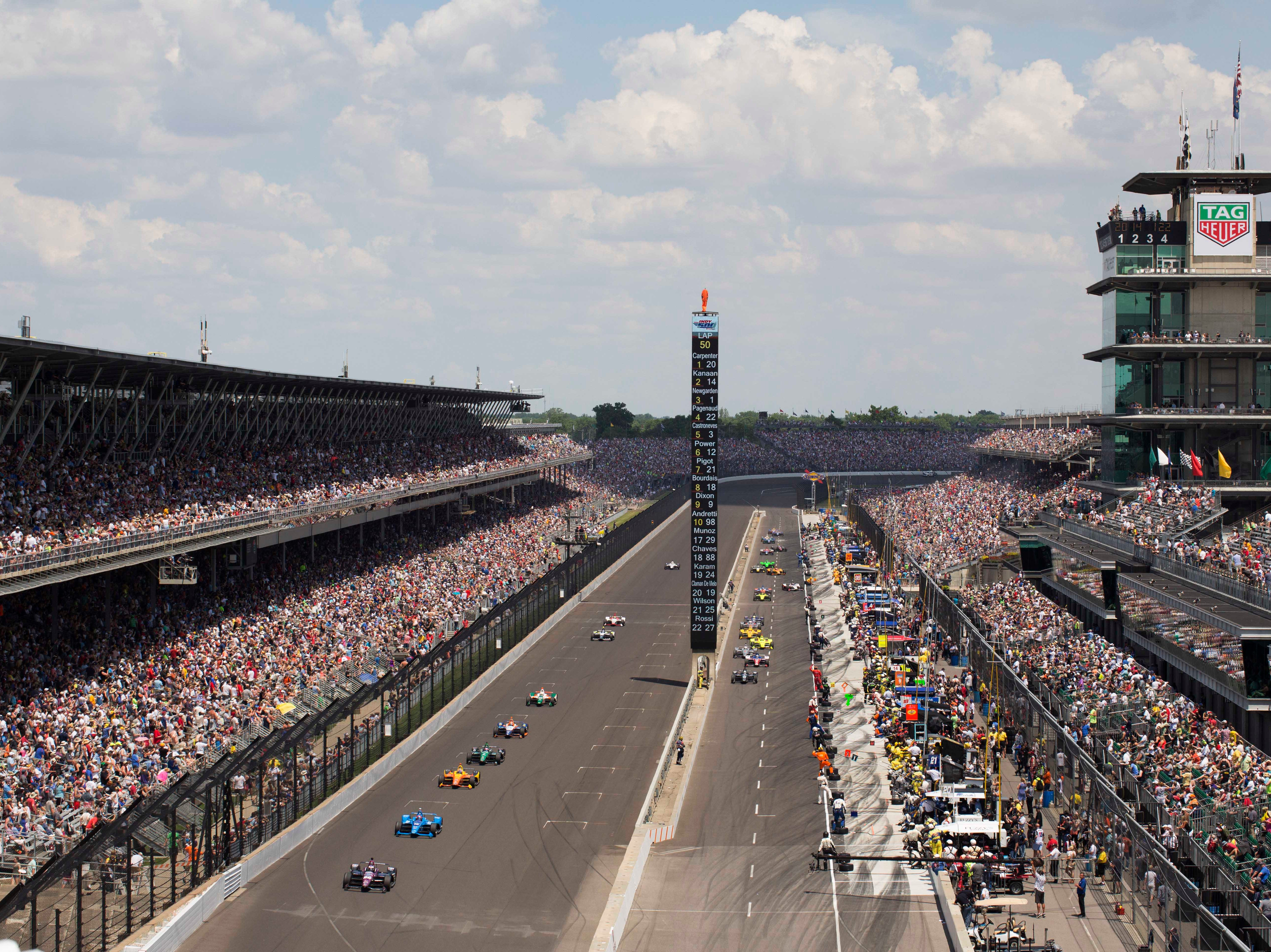 May 26: Indianapolis 500 on the Indianapolis Motor Speedway oval (11 a.m. ET, NBC)