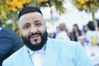 """Kids' Choice Awards host DJ Khaled is """"touched"""" by his son's reaction to seeing him on Nickelodeon. (March 22)"""