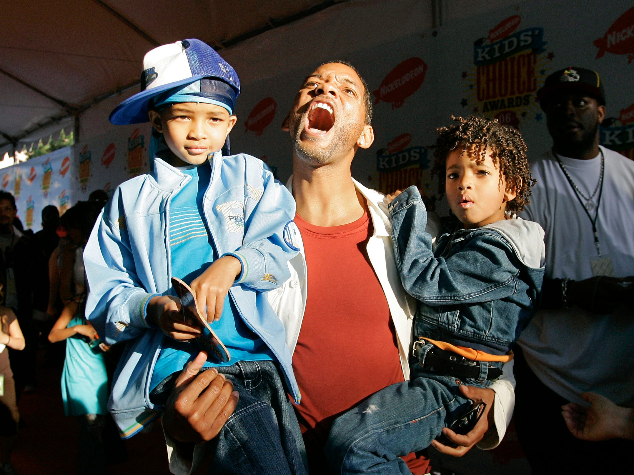 Actor Will Smith with his son Jaden, left, and daughter Willow in 2006