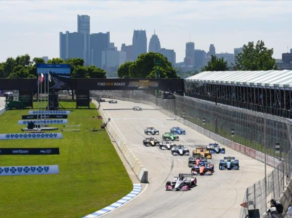 June 1-2: Chevrolet Detroit Grand Prix doubleheader on the The Raceway at Belle Isle Park in Detroit (3 p.m. ET, NBC)