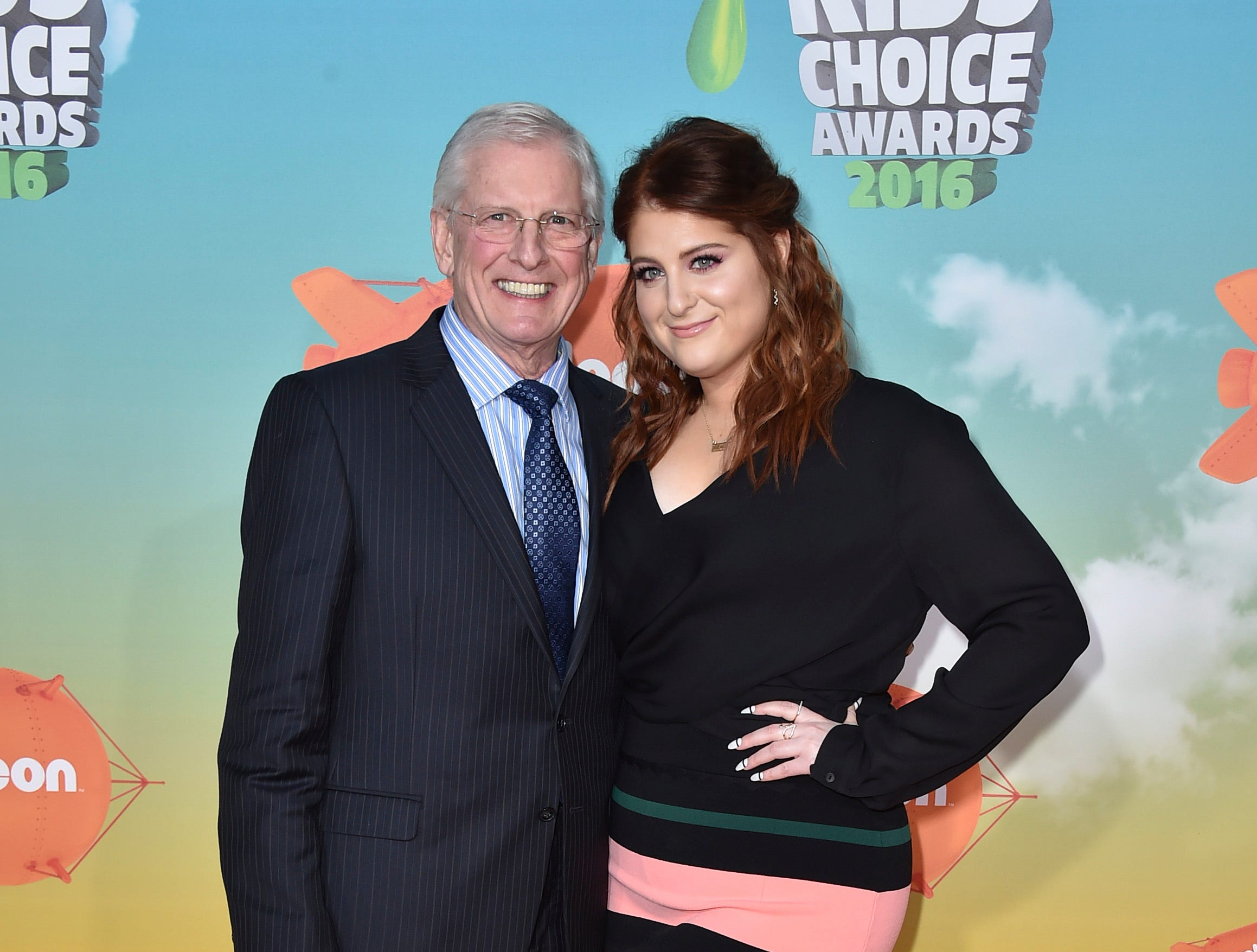 Gary Trainor with his daughter, singer Meghan Trainor, in 2016