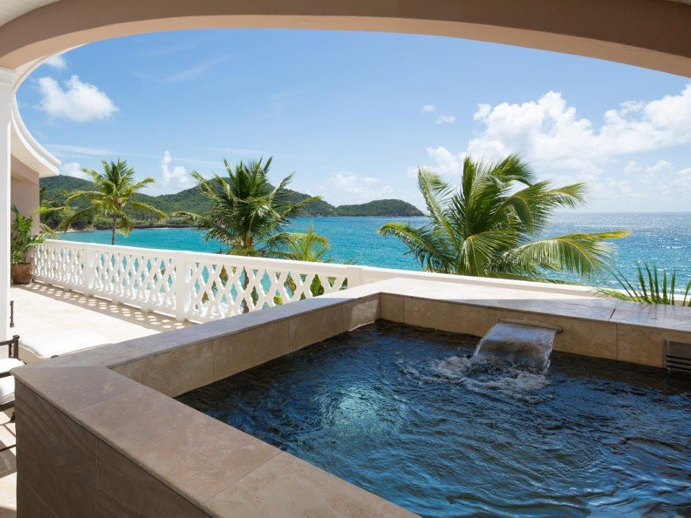For those who covet personal pool time, Curtain Bluff's swanky suites are outfitted with plunge pools.