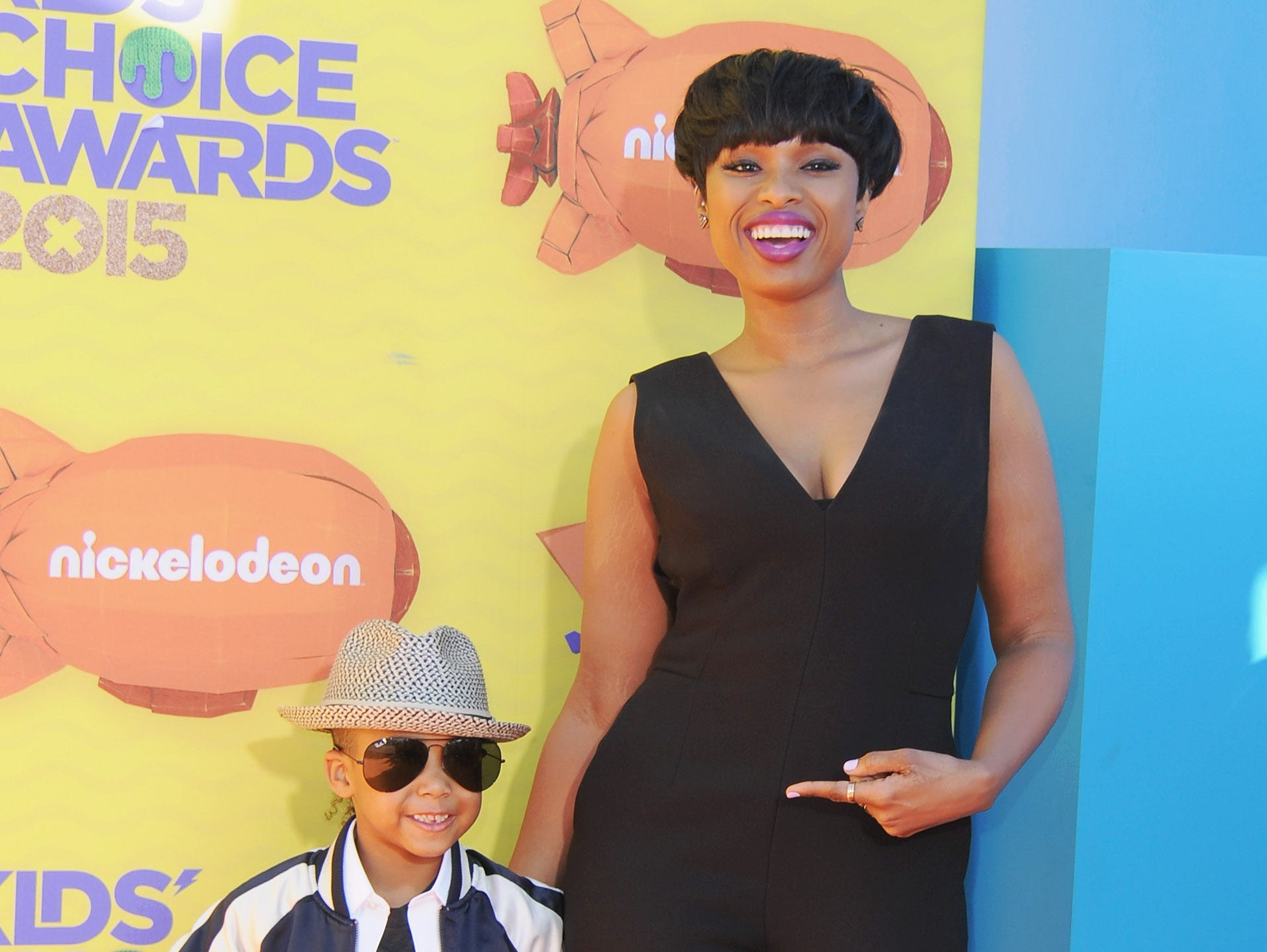 Actress Jennifer Hudson and son David Daniel Otunga Jr.