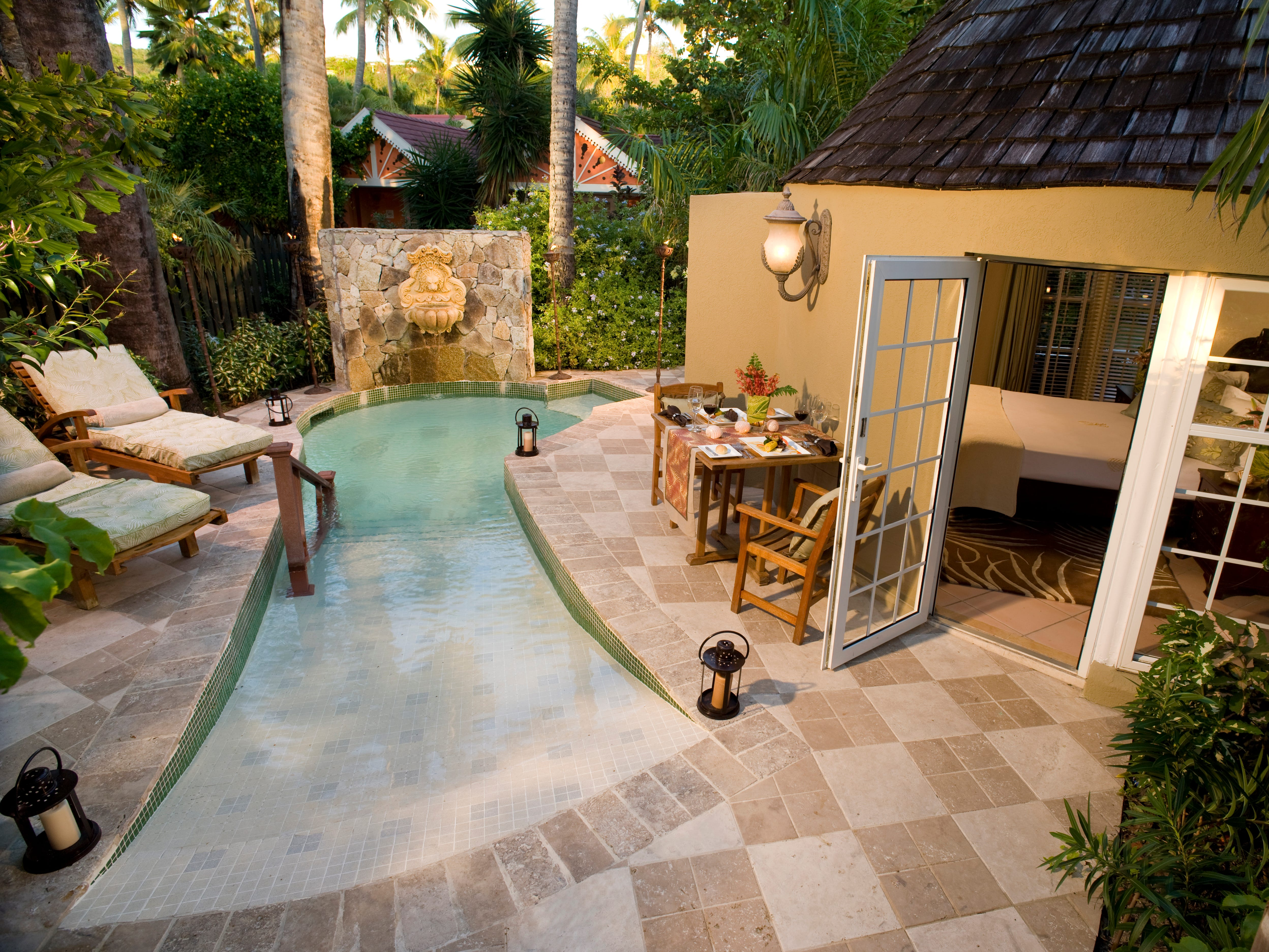 The villas at Sandals Grande Antigua come with plunge pools, whirlpools and butlers who keep them neat.