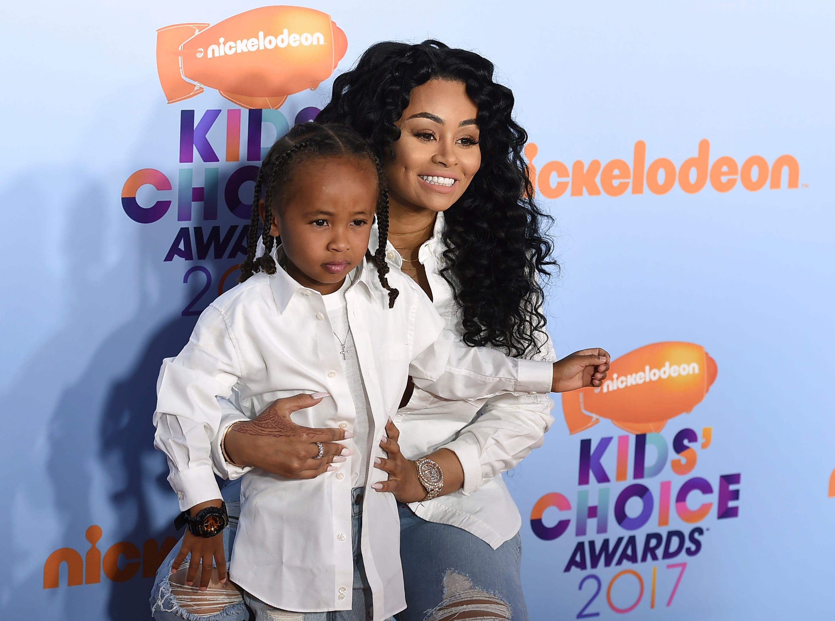 Blac Chyna and King Cairo Stevenson in 2017