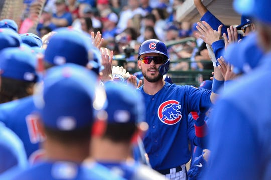 Kris Bryant is set to earn $12.9 million this year with the Cubs.
