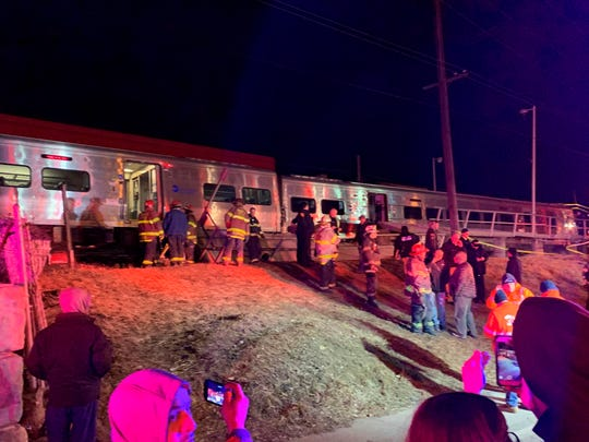 The Long Island Railroad says service was suspended Tuesday evening in both directions on the Ronkonkoma and Huntington/Port Jefferson branches.