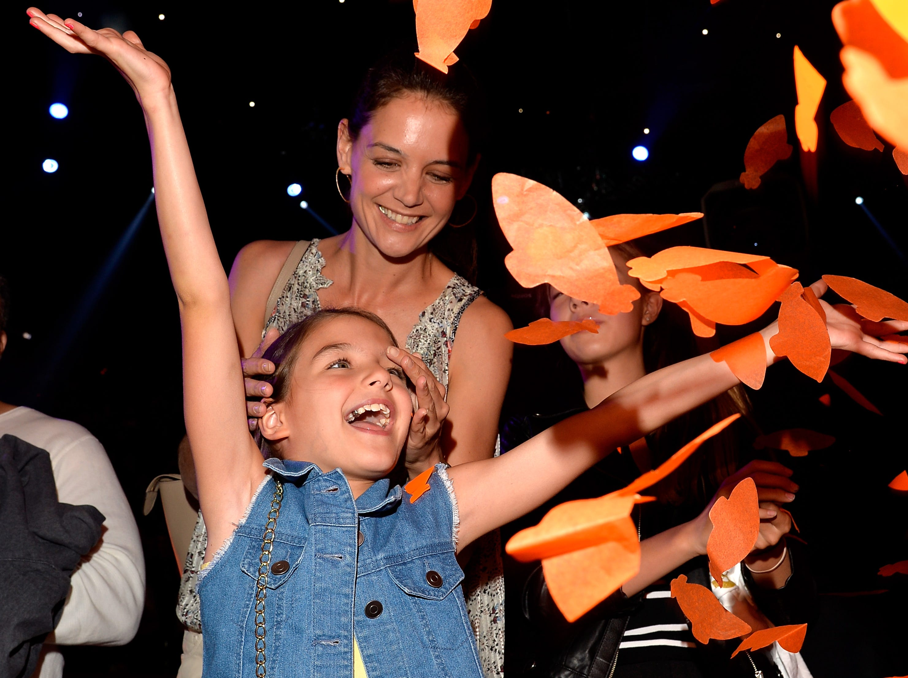 Actress Katie Holmes with her daugher, Suri Cruise, in 2015
