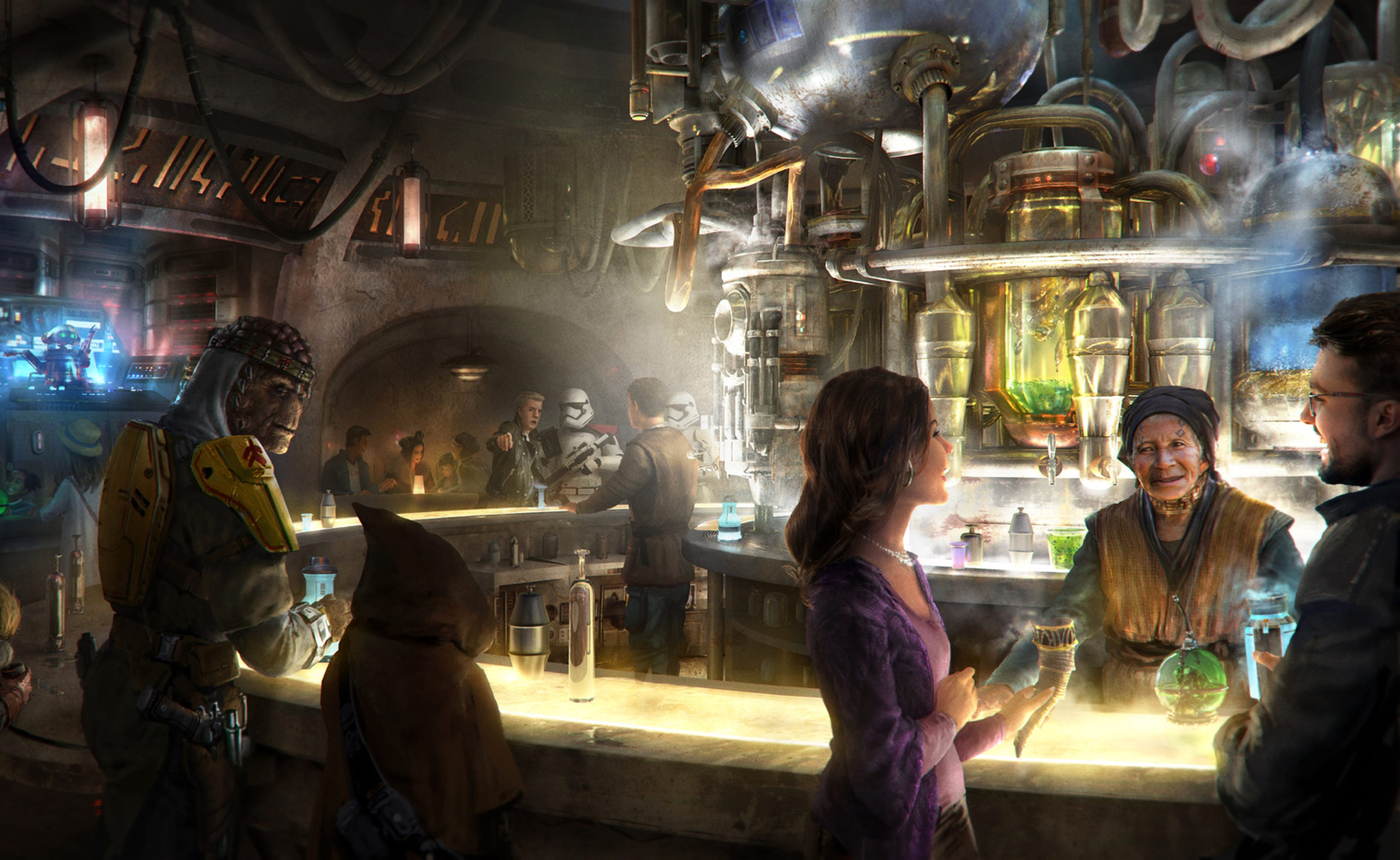 Some of the beverages at Oga's Cantina will include alcohol, which will break a longstanding Disneyland tradition.