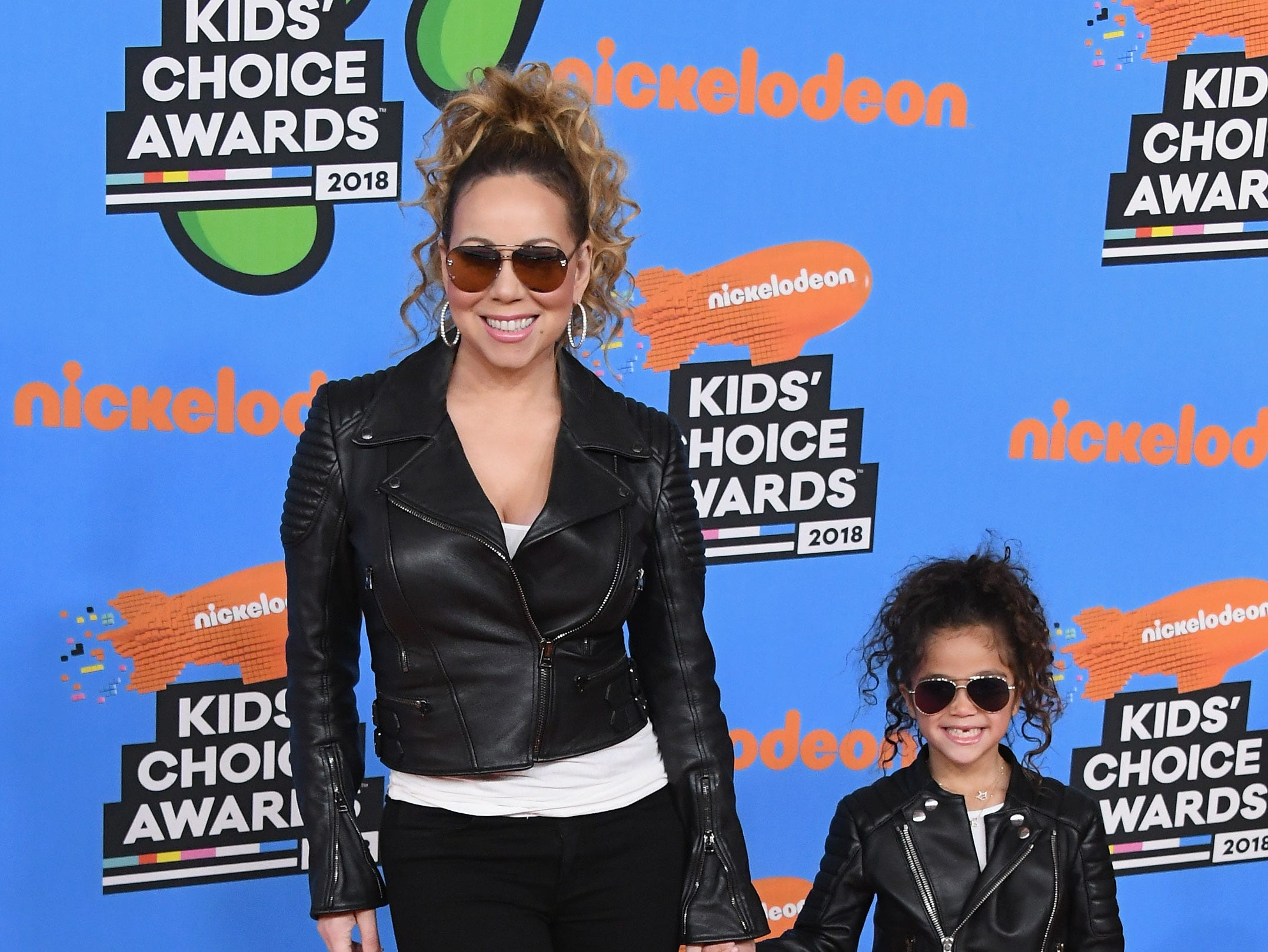 Mariah Carey and her mini me, her daughter Monroe Cannon, at the Kids' Choice Awards.