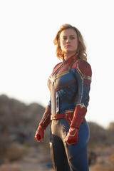 "Captain Marvel (Brie Larson) in Marvel Studios' ""Captain Marvel."""