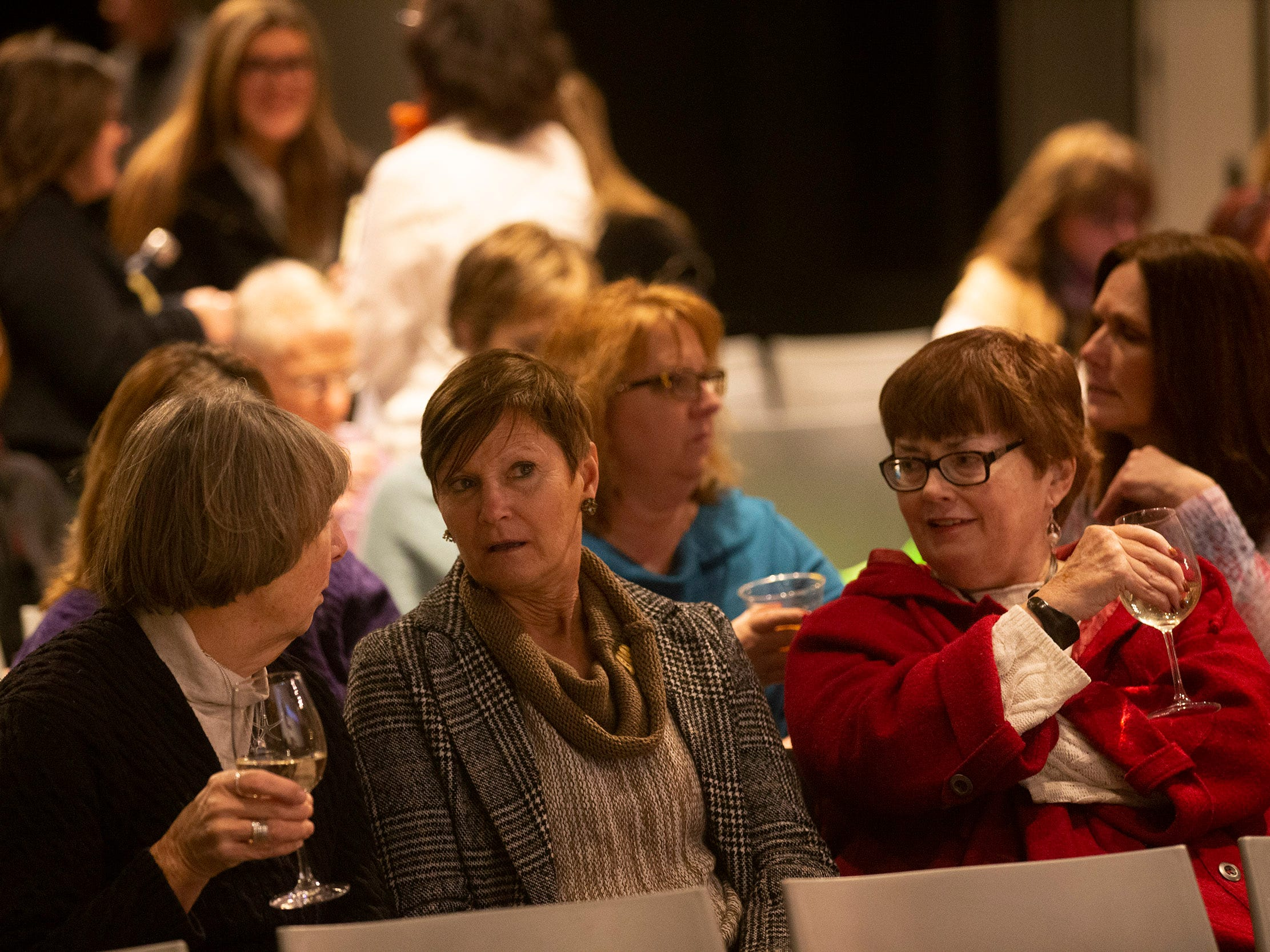Attendees enjoy drinks and conversation before the program begins. Speakers and crowds alike enjoy the latest version of Storytellers in Asbury Park on February 27, 2019, this night's subject was starting over. Atten
