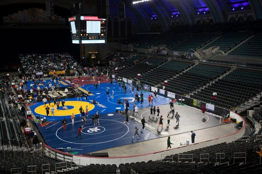 NJSIAA State Wrestling opening rounds in Atlantic City, Thursday February 28, 2019