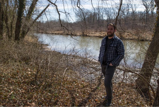 Allentown resident P.J. Meara got a creek's name changed from Negro Run to Ashby Creek to honor Sgt. George Ashby, New Jersey's last surviving Civil War soldier, an African-American who risked it all to fight for the Union. Meara stands by the creek.Allentown, NJThursday, February 28, 2019