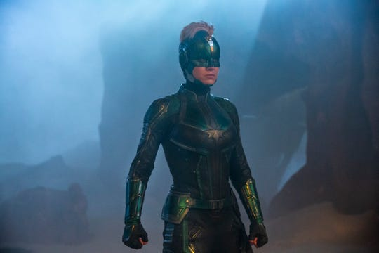 "Captain Marvel, played by Brie Larson, in Marvel Studios' ""Captain Marvel."""