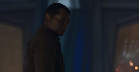 "Nick Fury, played by Samuel L. Jackson, in Marvel Studios' ""Captain Marvel."""