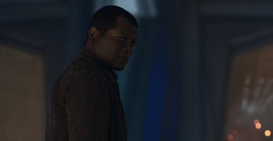 "Nick Fury, played by Samuel L. Jackson, in Marvel Studios' ""Captain Marvel."""