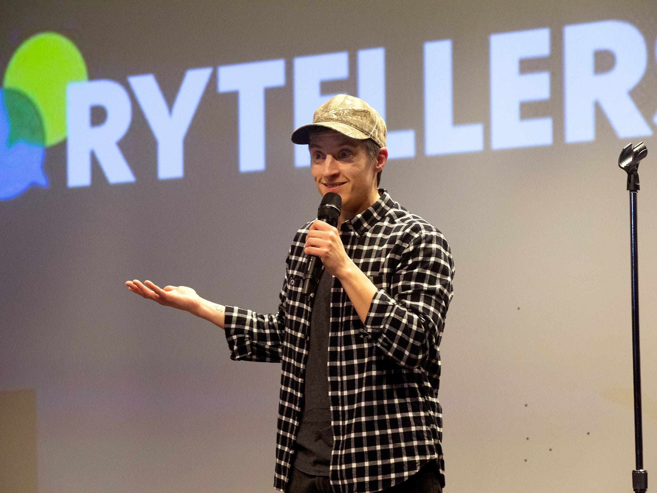 Speakers and crowds alike enjoy the latest version of Storytellers in Asbury Park on February 27, 2019, this night's subject was starting over.