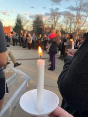 "Trinity United Methodist Church held a candlelight vigil Wednesday night to ""lament the decision."""