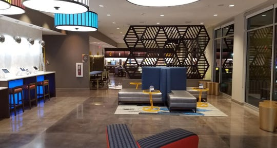 A view inside the new Glo Best Western Hotel at 509 Tunnel Road in Asheville. The 72-room hotel opened its doors to the public Thursday, Feb. 28.