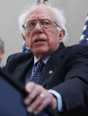 Sen. Bernie Sanders (I-VT) speaks during a news conference to announce legislation to expand Social Security, on Capitol Hill February 13, 2019 in Washington, DC. Sen. Sanders proposal would contribute to Social Security with payroll taxes on income above $250,000.