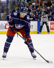 Eric Robinson played in his 10th NHL game this season. He's become a fixture on a Columbus Blue Jackets team that stocked up big-time at the trade deadline.