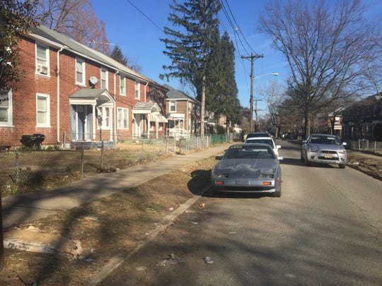 Two men were found fatally shot Wednesday night in an idling car on the 2800 block of North Constitution Avenue in Camden.
