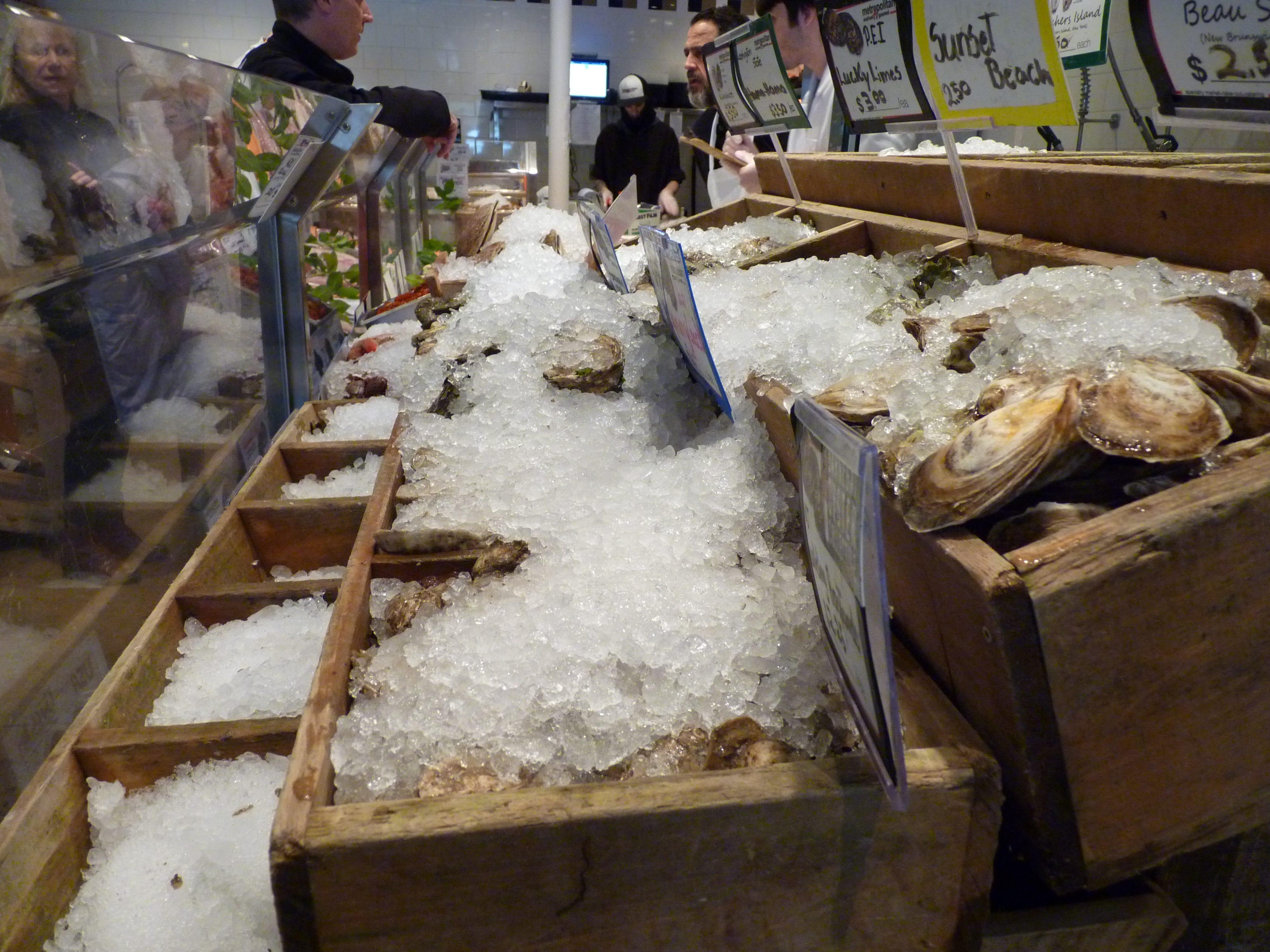 A display of fresh seafood at Metropolitan Seafood & Gourmet in Lebanon.
