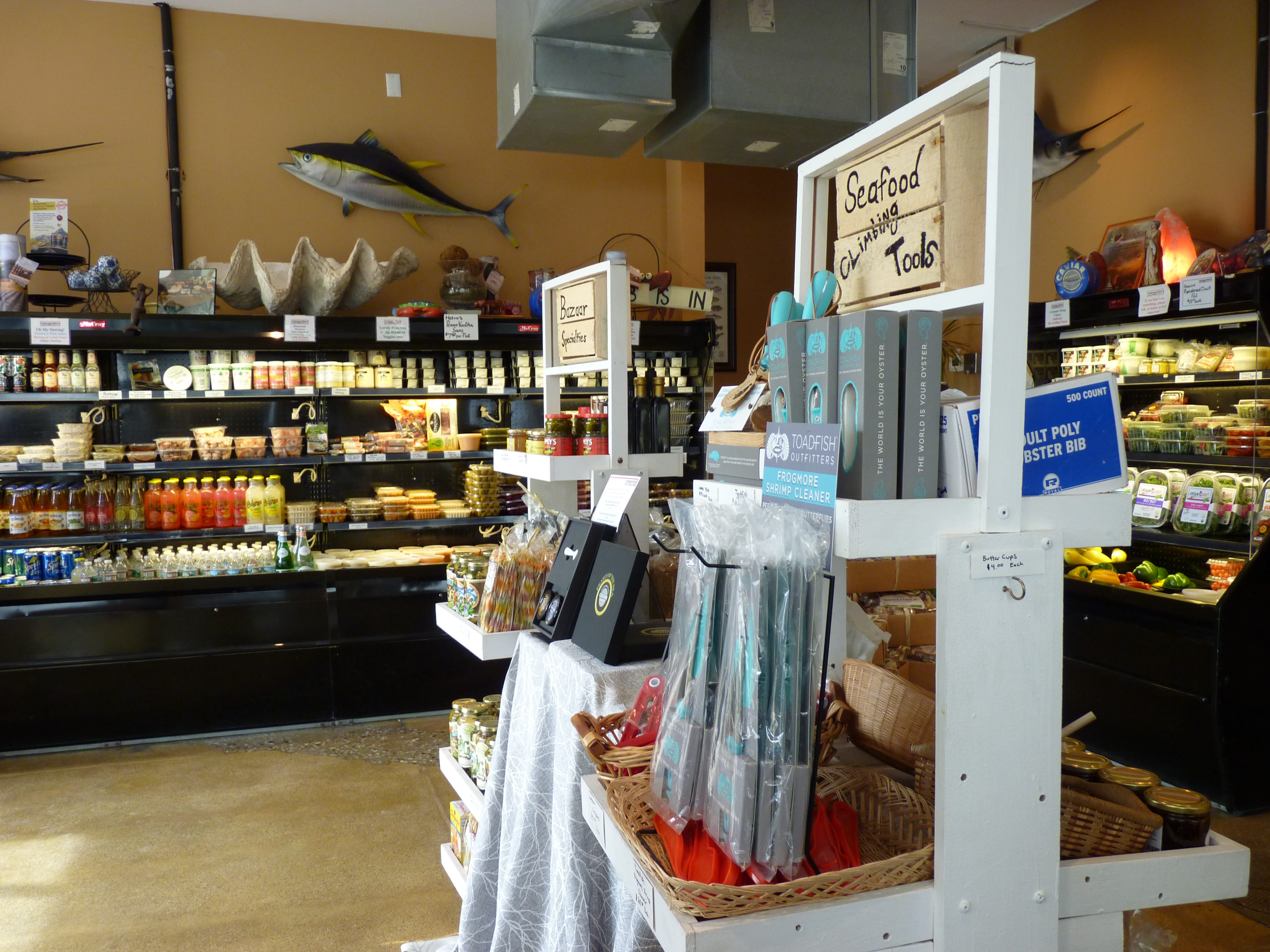 Inside Metropolitan Seafood & Gourmet in Lebanon.