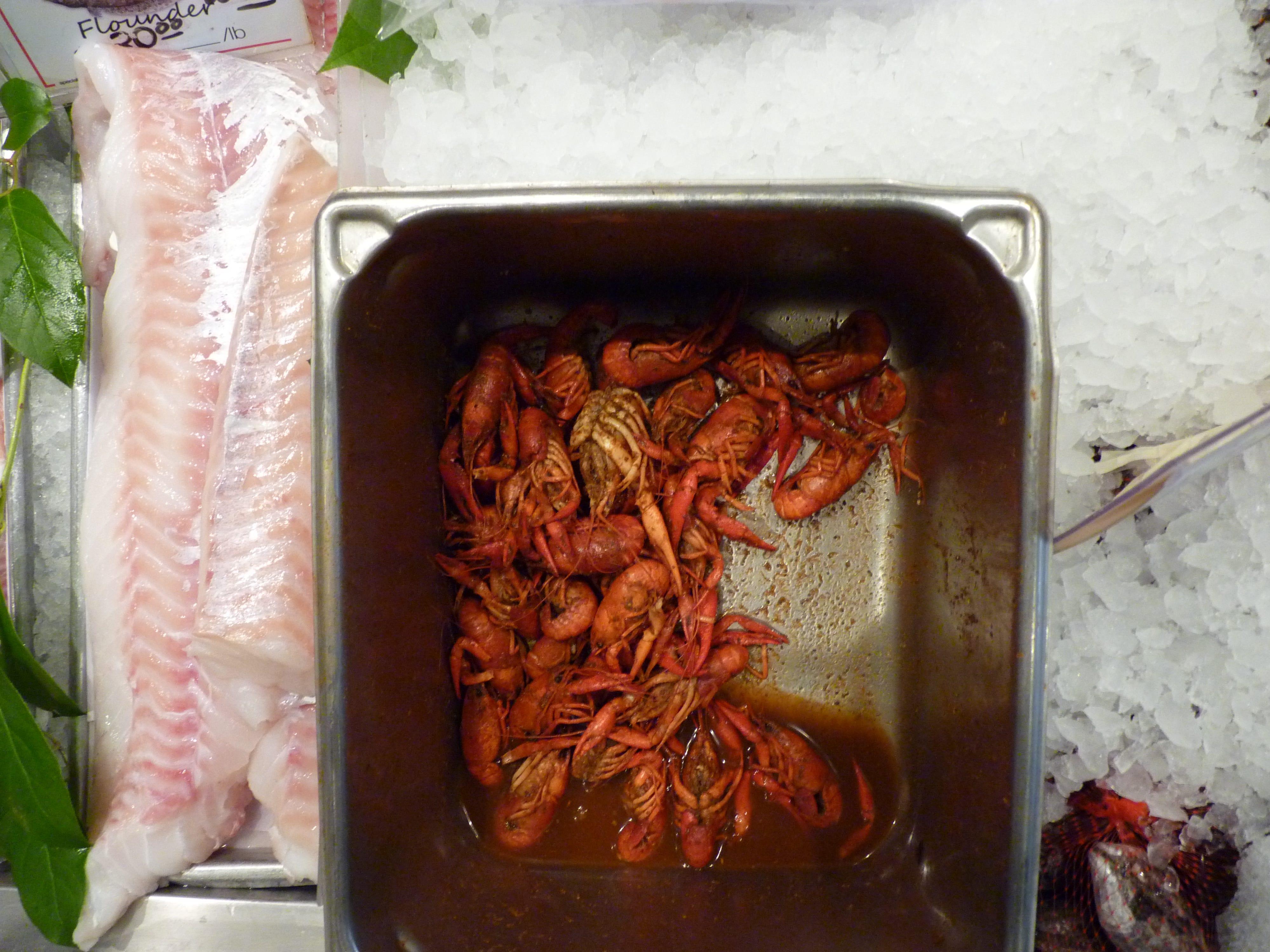 Fresh crawfish at Metropolitan Seafood & Gourmet in Lebanon.