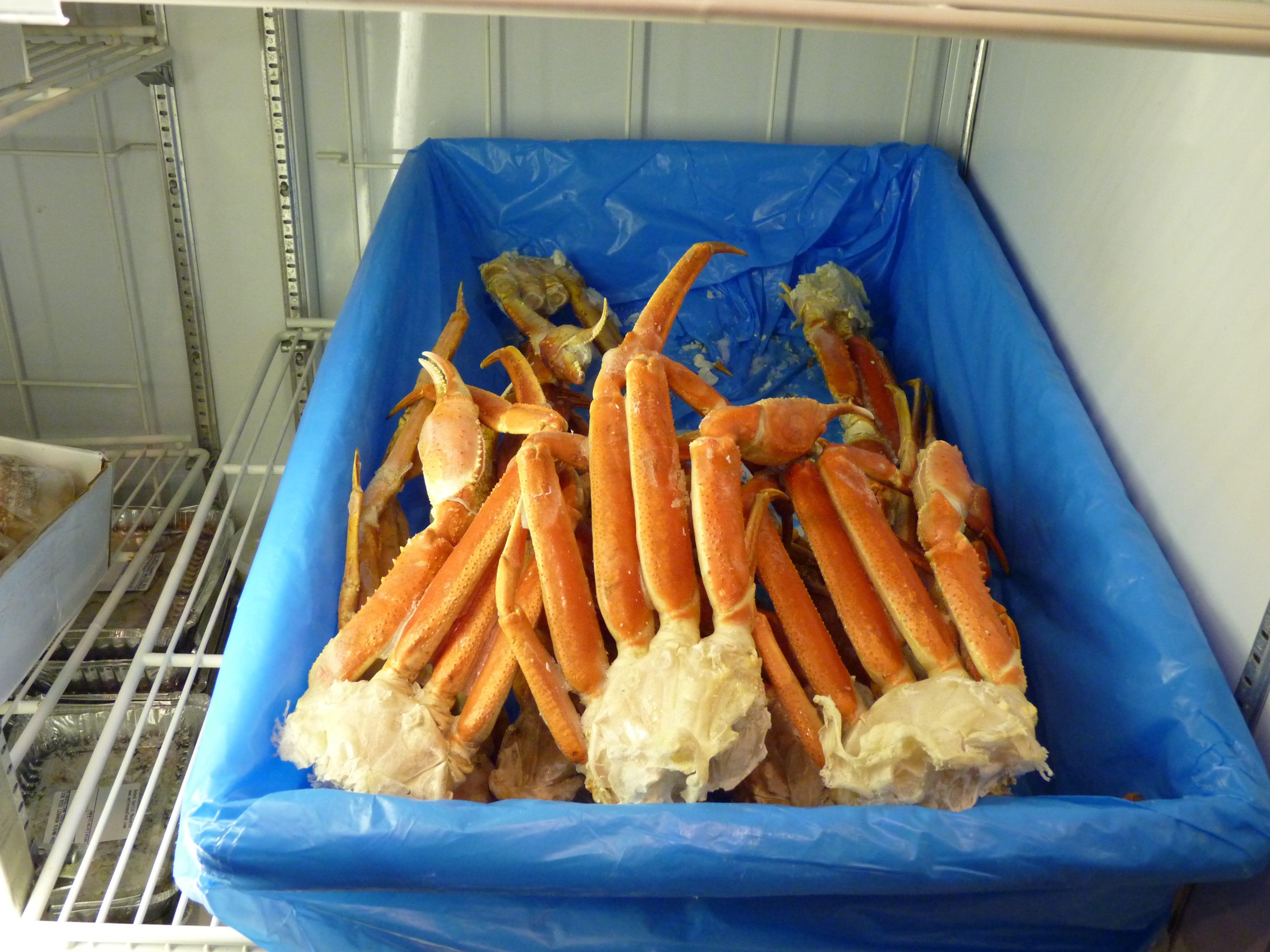 King crab legs at Metropolitan Seafood & Gourmet in Lebanon.