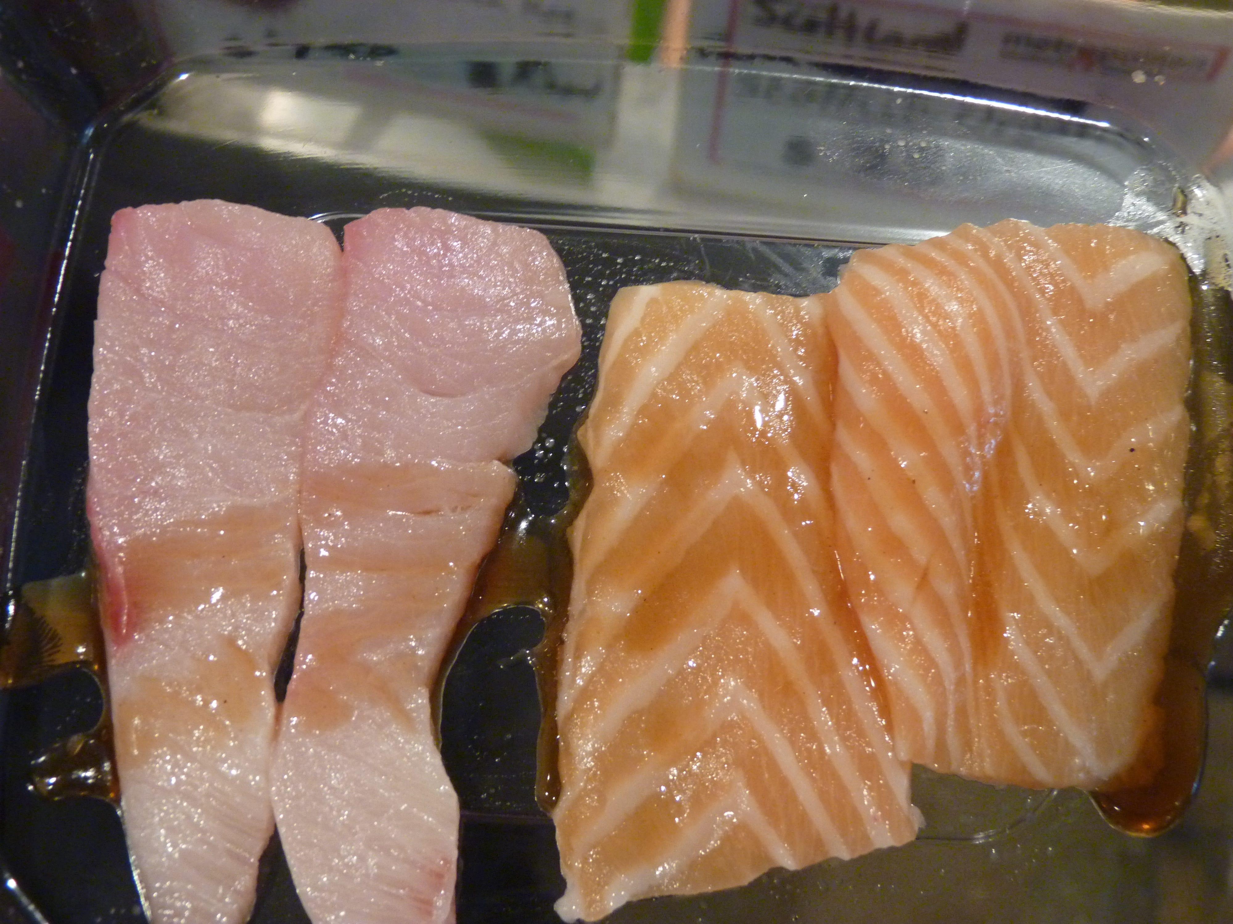 Fresh sashimi at Metropolitan Seafood & Gourmet in Lebanon.