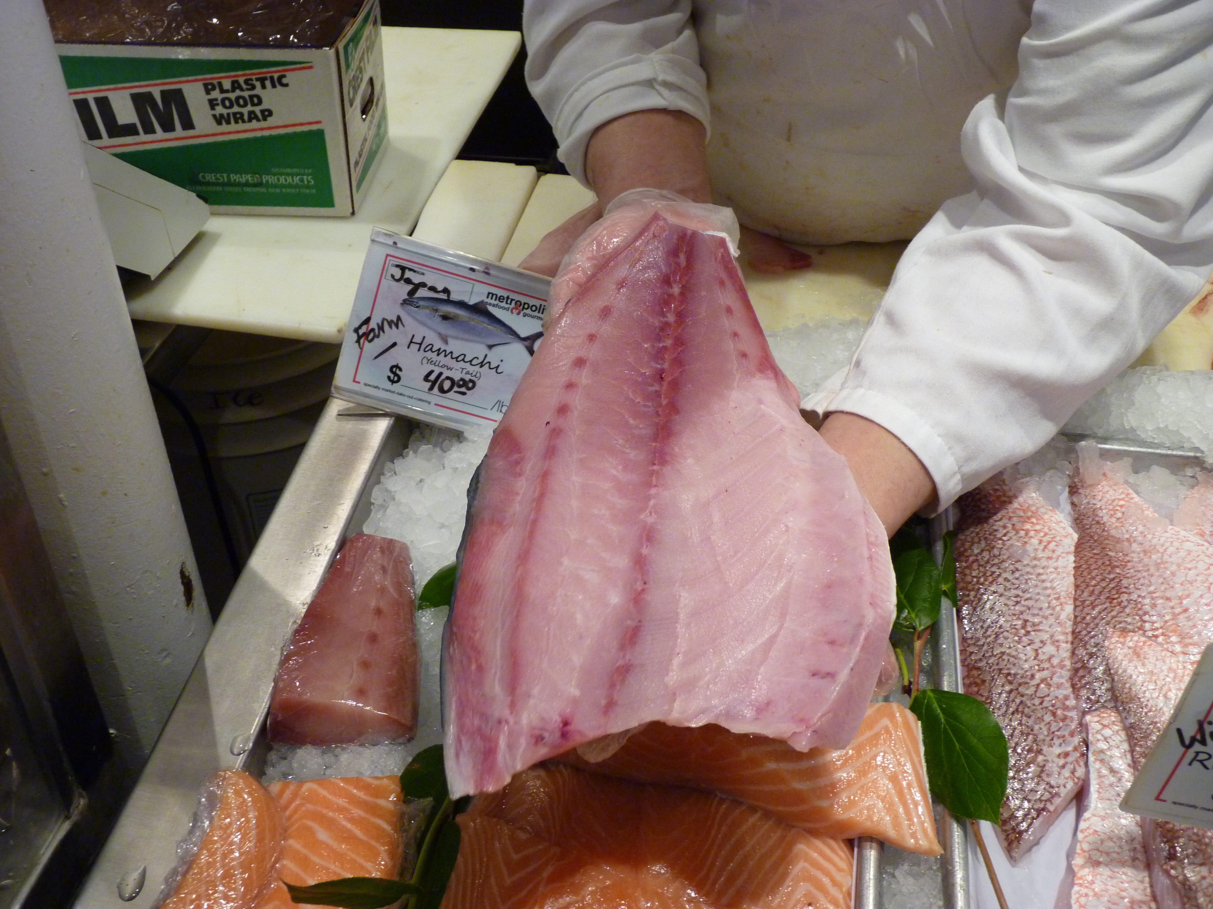 Fresh fish at Metropolitan Seafood & Gourmet in Lebanon.