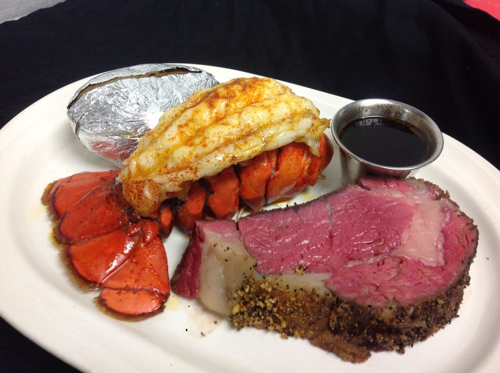 Lobster and prime rib at John & Nick's Steak & Prime Rib in Clive.