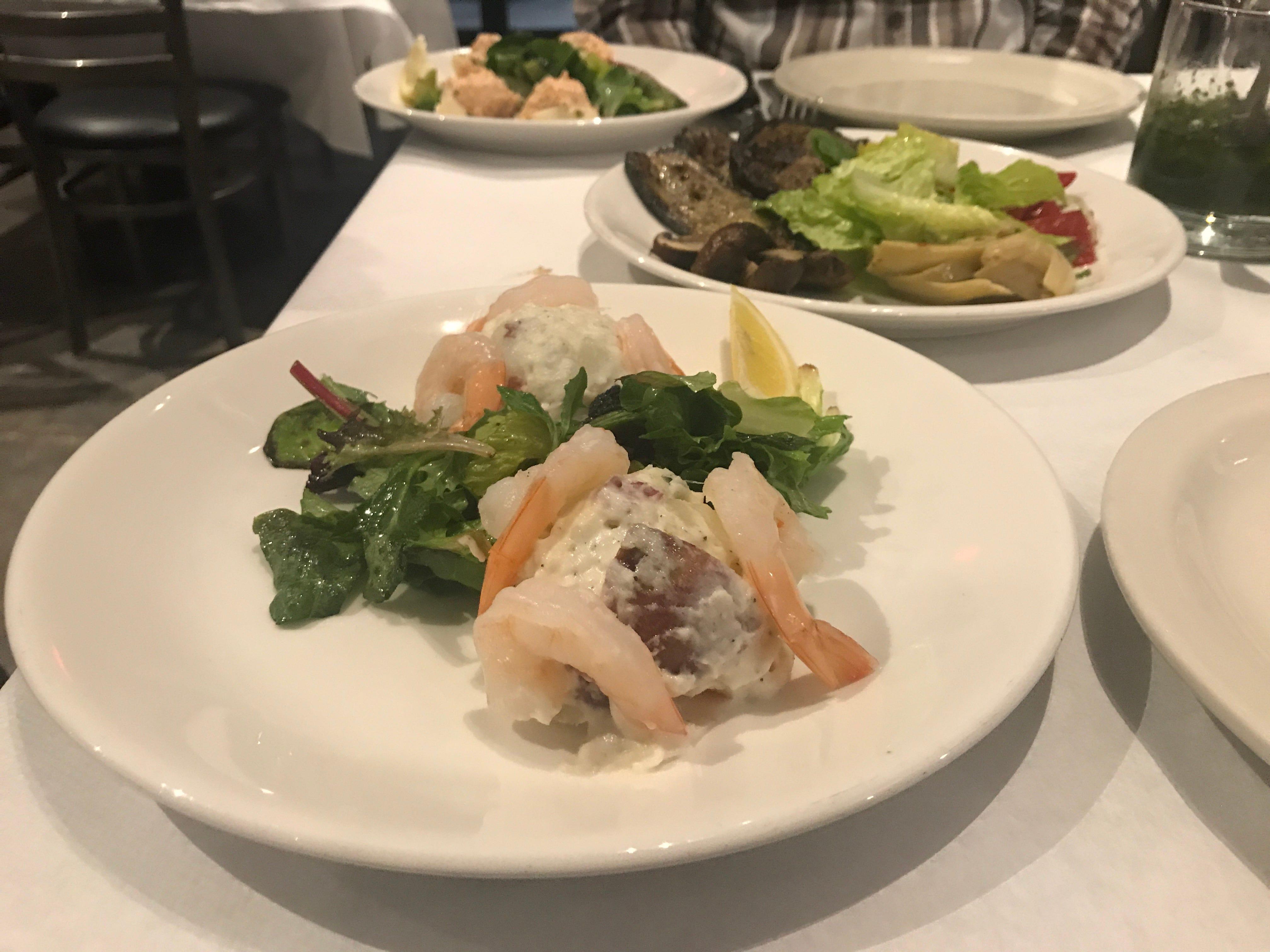 Russian potato salad with shrimp at Al Punto.