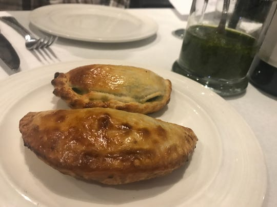 Empanadas are served at Al Punto. Eventually, the restaurant will sell them from a hot case at the entrance.