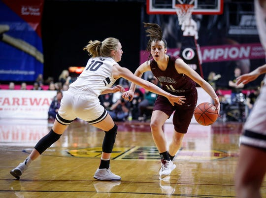 Dowling Catholic guard Caitlin Clark is considering Notre Dame, Iowa and Iowa State.